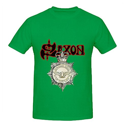 (Saxon Strong Arm Of The Law Tour Pop Men O Neck Cool T Shirts Green)