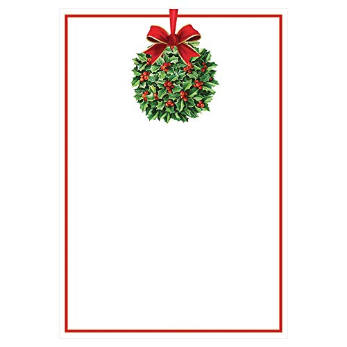 - Entertaining with Caspari Kissing Ball Blank Invitations With Envelopes (8 Pack), Green