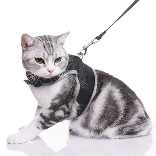 OFPUPPY Reflective Cat Harness with Leash - Large Medium Cat Vest - Best for Walking (Cat Harness D-ring)