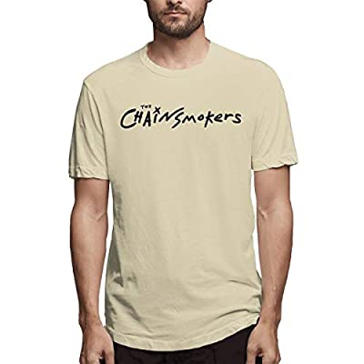 Smooffly Mens 3D Print with The Chainsmokers Crew Neck Cotton Short Sleeves Tee