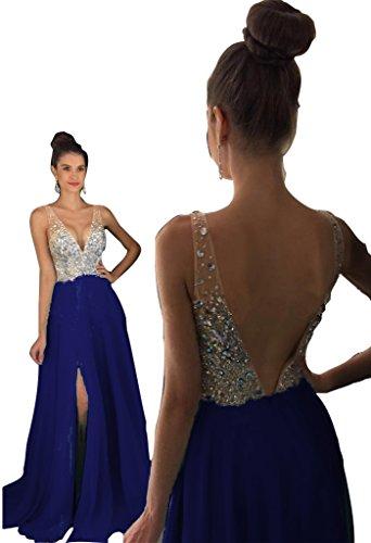Back Slit Prom Dress - 3