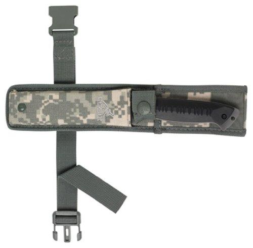 Gerber Warrant Knife, Serrated Edge, Tanto, with Camo Sheath [31 000560]