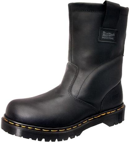 Dr. Martens Mens Icon Industrial Strength Steel Toe Boot Black Industrial Greasy NNNt5n