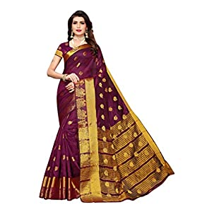 Anni Designer Women's Black Color Chanderi Silk Jacquard Butta Saree With Blouse Piece