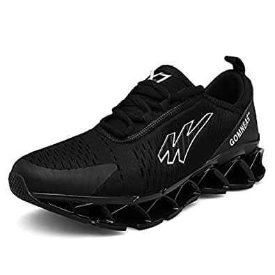 Sun country Trail Running Shoes for Mens Lightweight Breathable Athletic Non Slip Casual Trainers Gym Tennis Stylish Walking Sneakers Black Size: 6.5