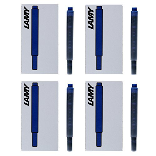 - Lamy Fountain Pen Ink Cartridges, Black/Blue Ink, 4 Packs of 5 Cartridges (LT10BKBL)