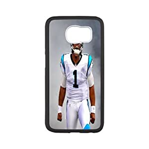 Best Phone case At MengHaiXin Store The NFL stars Cam Newton from Carolina Panthers team custom design case cover Pattern 17 For Samsung Galaxy S6