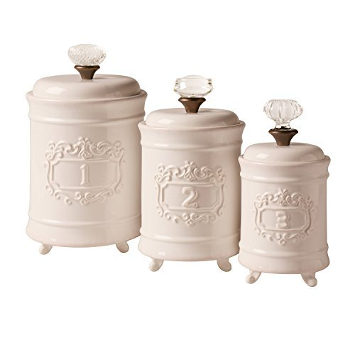cheap kitchen canister sets mud pie 4931002 mud pie 4931002 kitchen canister set of 3 16690