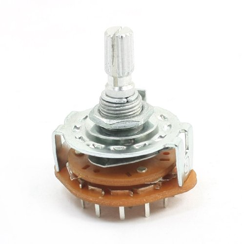 UXcell 6mm Shaft 3 Pole 4 Position 3P4T Band Channel Sele...