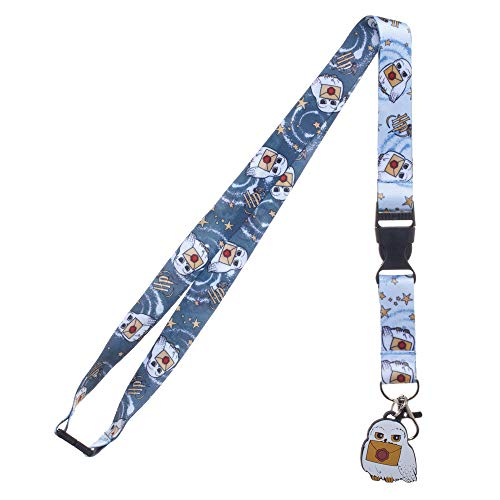 Harry Potter Hedwig Carrying Letter to Hogwarts Breakaway Lanyard with Charm