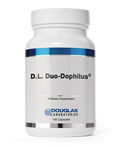 Douglas Laboratories - D.L. Duo Dophilus - Acidophilus and Bifidus Probiotic Powder with FOS - 100 Capsules