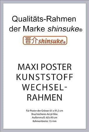 Accessoires Kunststoff-Rahmen Maxi Schwarz Empire Poster de Dinosaures du Cr/étac/é