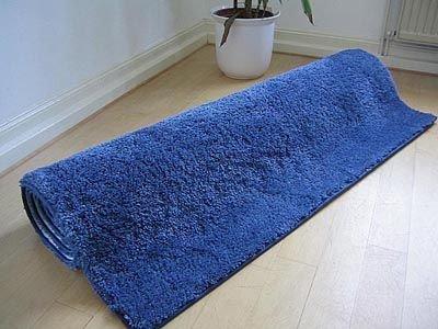 Palace hochflor shaggy teppich blau in größen amazon küche