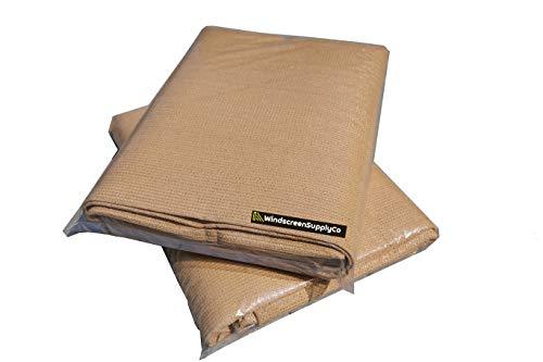8 ft x 20 ft Sunscreen Shade Fabric 95% Shade, UV Resistant Mesh Netting Cover for Outdoor,Patio,Backyard,Pergola,Plant,Greenhouse,Barn (Tan) (Sun Fabric)