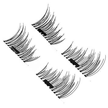 8060ae1fe84 New Dual Magnetic False Eyelashes - 1 Pairs (4 Pieces) Ultra Thin 3D Fiber