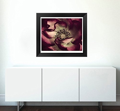 Fine Art Flower Macro Photography, Dark Red Floral Art Print 8x10, 11x14, 16x20 for Burgundy Mint Living Room Gallery Wall Decor by Natural Photography Spa (Image #1)