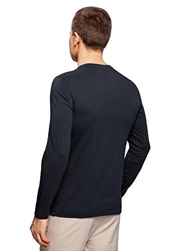 oodji Ultra Herren Tagless Langarmshirt mit V-Ausschnitt: Amazon.de:  Bekleidung