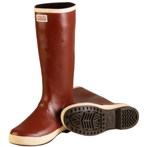 Tingley Rubber MB926B 16-Inch Neoprene Snugleg Boots, Size 12, Plain-Toe, Brick Red by TINGLEY (Image #1)
