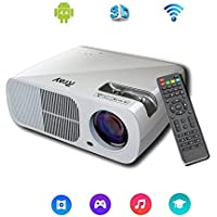 Rray 2600lumens HD WIFI Android 4.4 System Home Theater Projector LED Cinema Support HDMI VGA AV USB for Home Cinema Theater Child Games