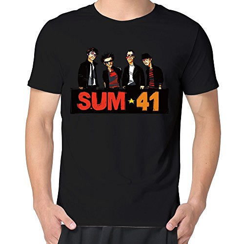 Bioshock 2 Big Daddy Costume (MAGGO Famou Rock Band Sum 41 New Songs Albums T-shirts Mens Black)