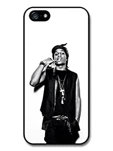 ASAP Rocky Black and White Portrait Showing Teeth Case For Sam Sung Note 4 Cover