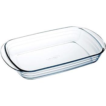 Amazon Com Arcuisine Glass Rectangular 13 75 X 8 65 Inch