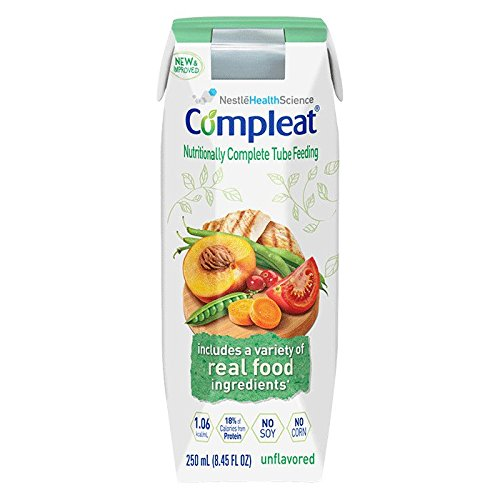 Compleat, Real Foods Blended, Feeding Tube Formula 250ml Adult, 24/Case by Abbott
