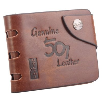 Mens Vintage Hunter Cowboy Genuine Leather Bifold Card Cluth Purse Wallet -