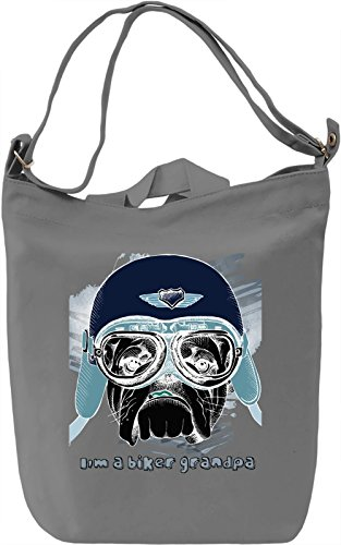 Rider Dog Borsa Giornaliera Canvas Canvas Day Bag| 100% Premium Cotton Canvas| DTG Printing|