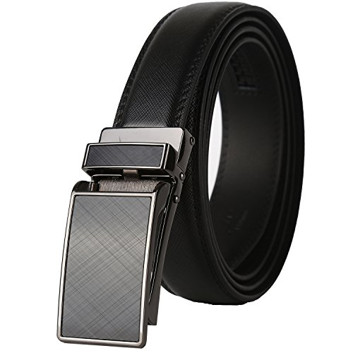 "Big Sale 60% Off-Dante Ratchet Click Genuine Leather Dress Belt for men with Linxx Buckle 1 1/8"" Width"