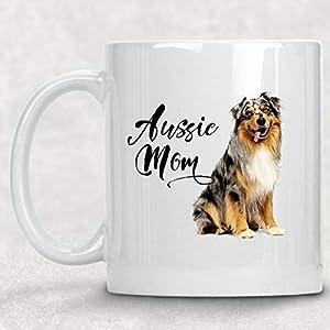 Aussie Mom Australian Shepherd Watercolor Mug Dog Lover Coffee Cup 7