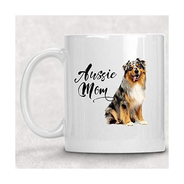 Aussie Mom Australian Shepherd Watercolor Mug Dog Lover Coffee Cup 1