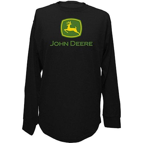 John Deere Men 39 S Trademark Logo Core Long Sleeve Tee
