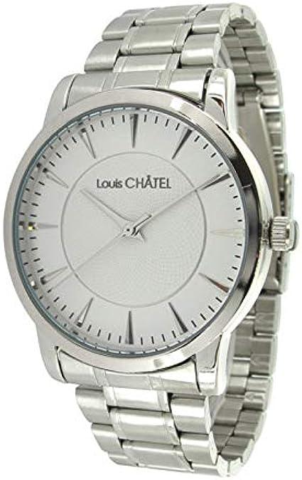 Luis châtel-Homme-Quartz-métal-chromé