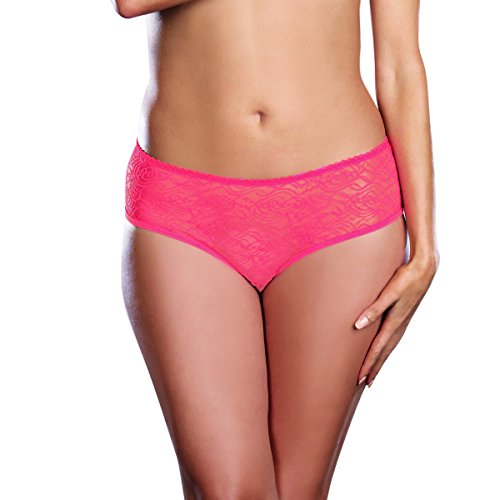 5c71ad886 Dreamgirl Women s Plus-Size Ruffle Back Crotchless Panty - Buy Online in  KSA. Apparel products in Saudi Arabia. See Prices