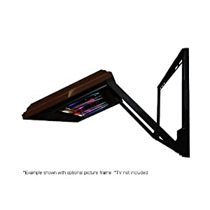 HIDDEN VISION FLIPS-OUT TV mount with an unfinished frame you can paint yourself
