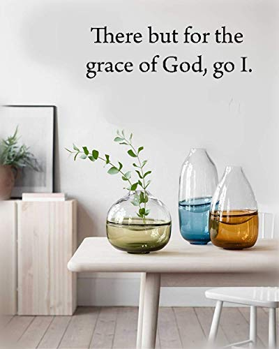 Yiusa Wall Decal Sticker Mural Vinyl Arts and Sayings Mural Art There But for The Grace of God Go I for Bedroom Living Room ()
