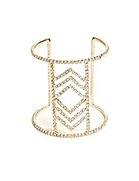 G by GUESS Women's Chevron Flex Rhinestone Cuff Bracelet