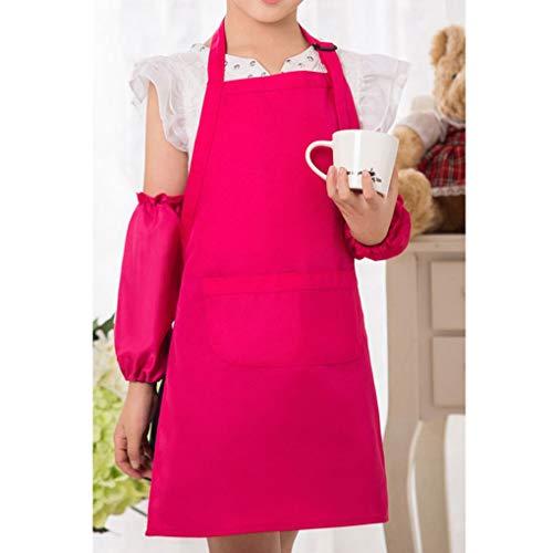 Price comparison product image Children Kids Sleeveless Apron Big Kitchen Baking Painting Cooking Craft Art Bib Apron Harmily