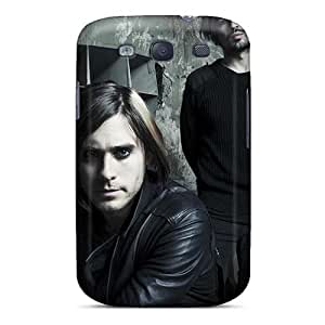 InesWeldon Samsung Galaxy S3 Perfect Hard Phone Cases Unique Design Beautiful 30 Seconds To Mars Band 3STM Image [FQY19294AnTc]