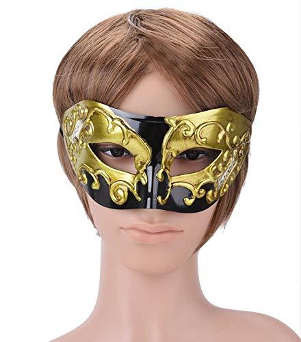 Party Masks - Men 39 S Vintage Mask Plastic Halloween Musical Costume Boys Masquerade Half Face Cover Prom Golden - That Dinosaur Animal Women Pack Birthday Blue Superhero Children Kids S]()