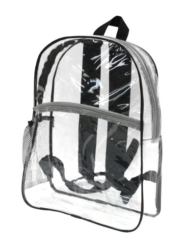 Bags for LessTM Clear Security Backpack, Black Trim