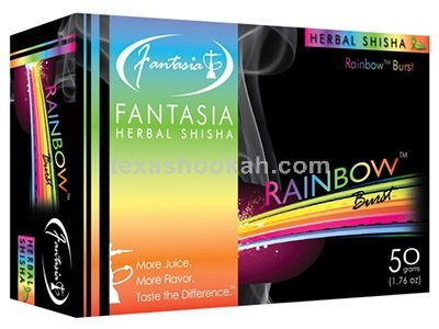 Fantasia Herbal Shisha 50g - Hookah Flavors (RAINBOW BURST)