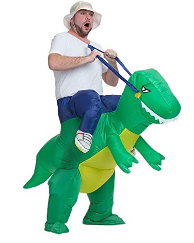AOGU Inflatable Dinosaur Riding T-REX Costume Halloween Costume for Adults Inflatable Dinosaur Cosplay (Adult) -