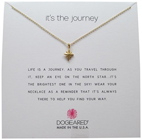 - Dogeared It's The Journey, Gold North Star Chain Necklace, 16