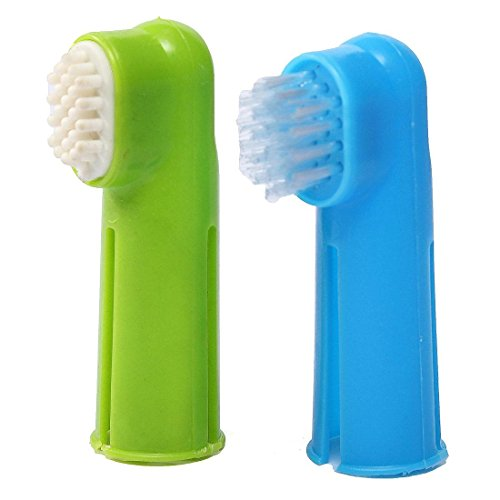 FOCUSPET 2X Hundezahnbürste Finger Zahnbürste Zahn Pflege Für Tier Haustier Hund Katze