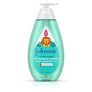Johnson's No More Tangles Detangling 2-in-1 Toddler & Kids Shampoo & Conditioner, Gentle No More Tears Formula, Hypoallergenic and Free of Parabens, Phthalates, Sulfates and Dyes, 20.3 fl. oz