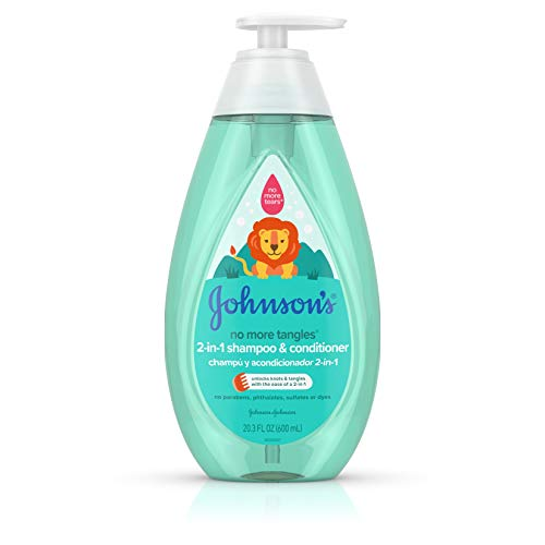 Johnson's Tear Free Detangling 2-in-1 Toddler & Kids Shampoo & Conditioner, 20.3 fl. oz