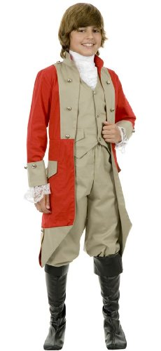 British Red Coat Kids Costume (Red Coat British Costume)
