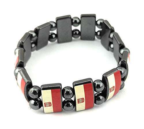 RedHat Countries of The World Flag Metal Bracelet Wristband ()